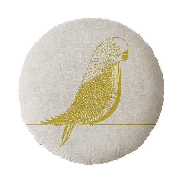 Budgie Round Cushion