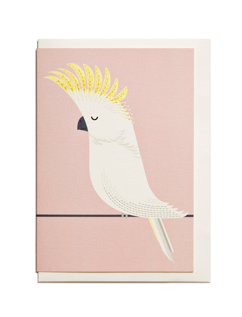 Cockatoo A6 Greeting Card