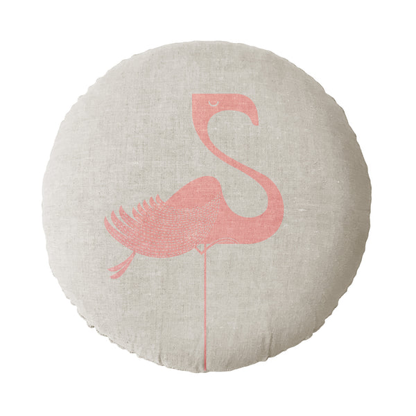 Flamingo Round Cushion