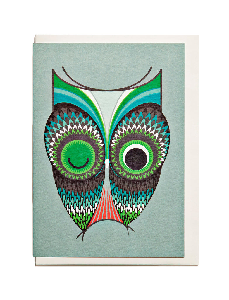 Owl A6 Greeting Card