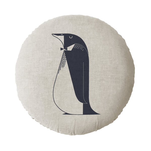 Penguin Round Cushion