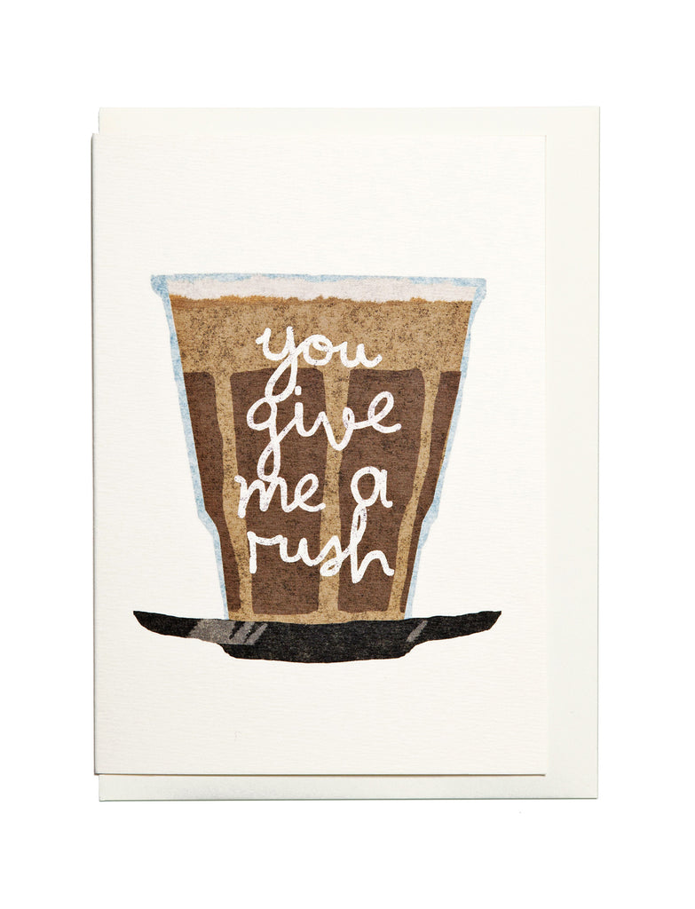 Coffee A6 Greeting Card