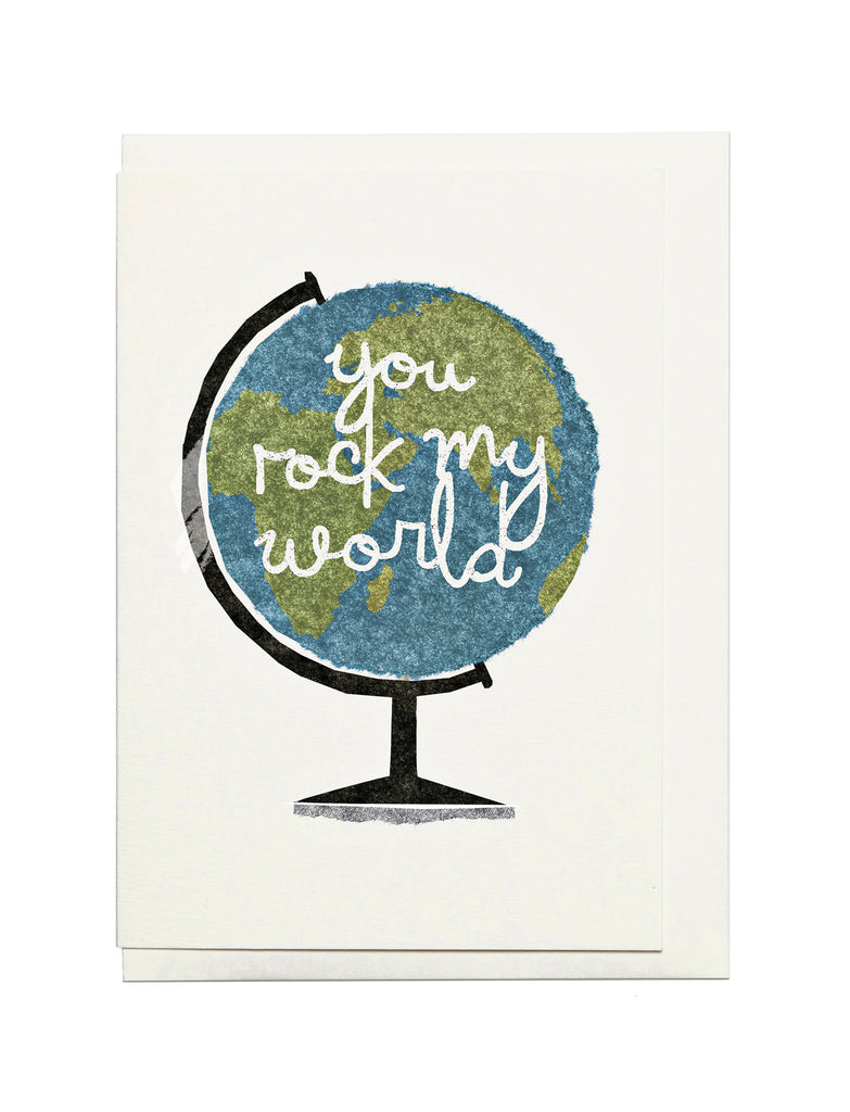 Globe A6 Greeting Card