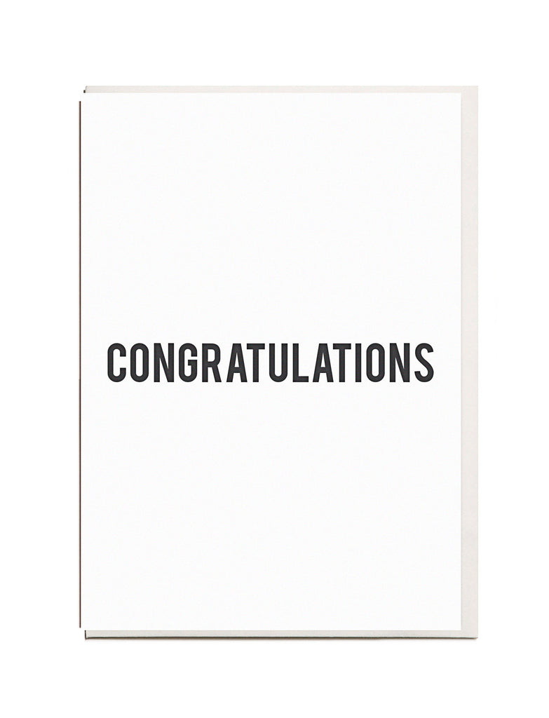 Congratulations A6 Greeting Card