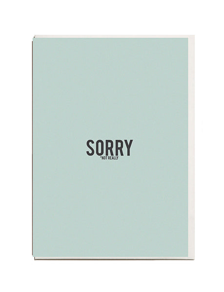 Sorry A6 Greeting Card