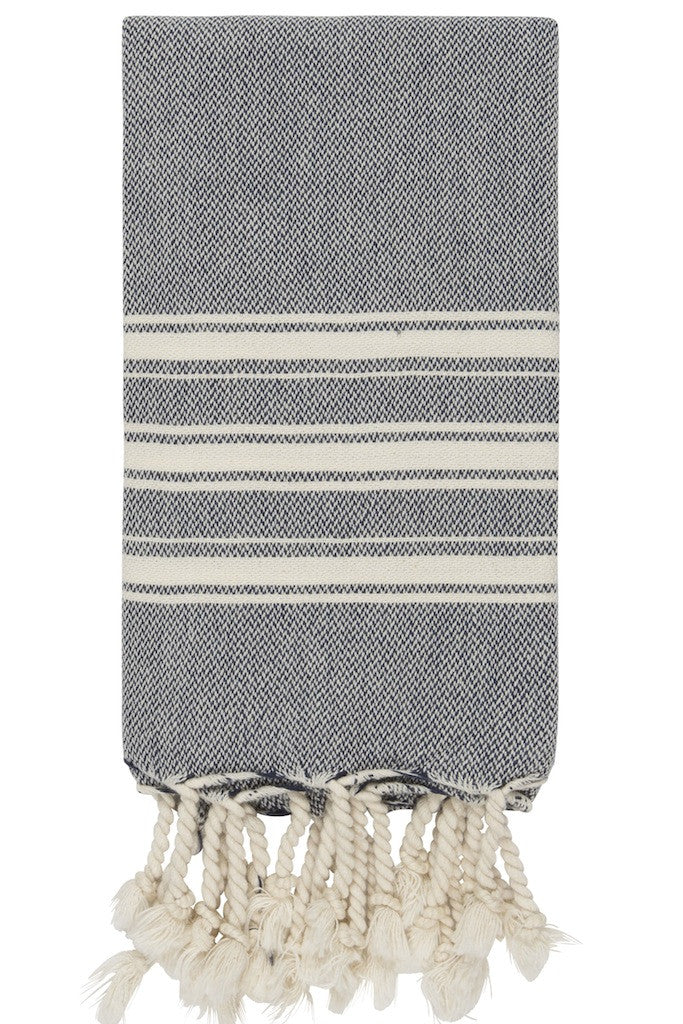 alexia hand size hamam towel in dark navy colour