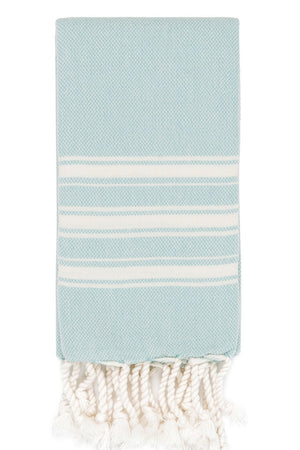 alexia hand size hamam towel in duck egg colour