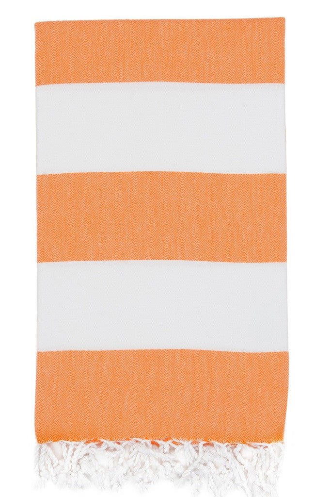 bold stripe hamam towel melon