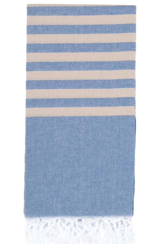 clara hammam towel denim stone