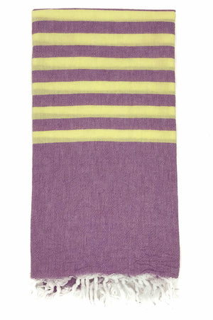clara hammam towel plum lemon