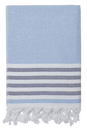 dina beach towel forget me not navy