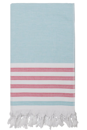dina beach towel mint fuscia