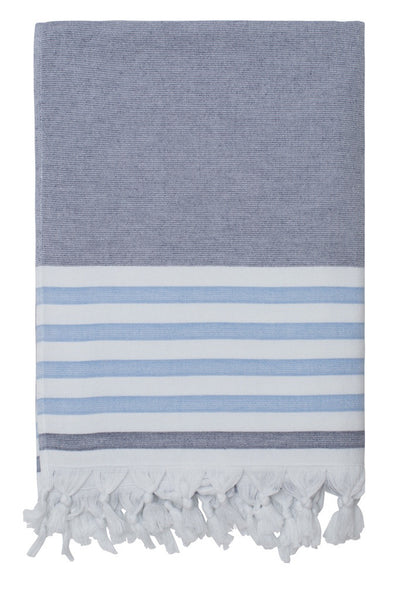 dina beach towel navy forget me not