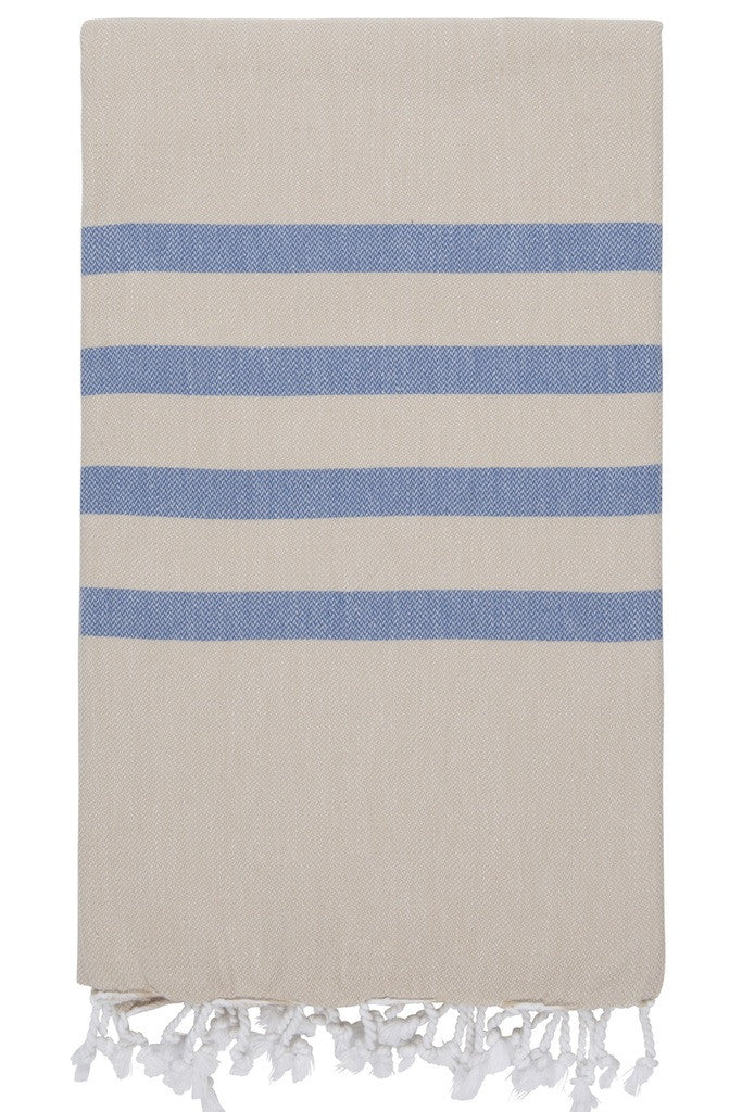 felix hamam towel beige denim