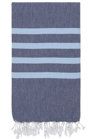 felix hamam towel navy forget me not