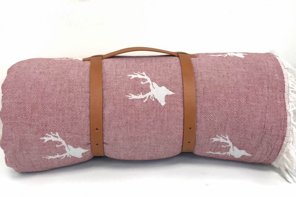 Stag Throw w/Fleece
