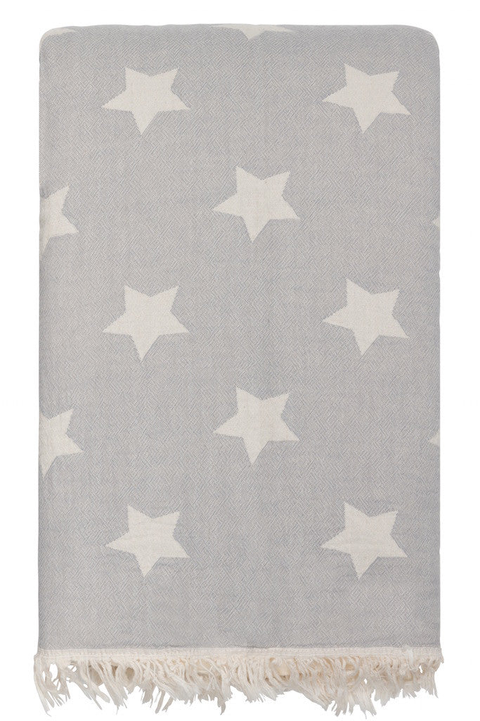 star throw fleece grey
