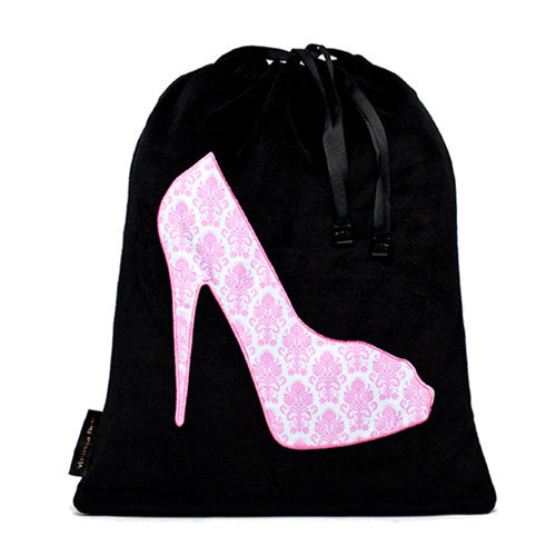 She-She Shoe Bag - Navy/Damask