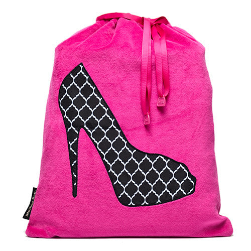 hot pink shoe bag