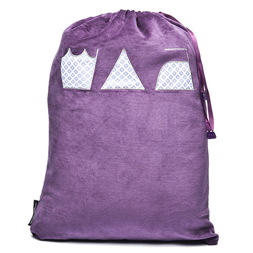 Wash, Dry and Repeat Laundry Bag - Purple/Diamond