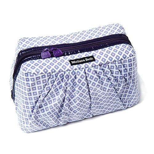 Pretty Pleats Cosmetic Case - Diamond/Purple