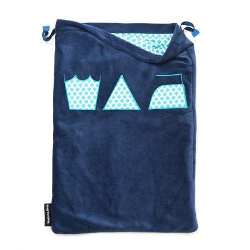 Wash, Dry and Repeat Laundry Bag - Navy Blue