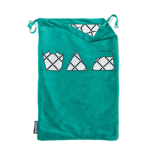 Wash, Dry and Repeat Laundry Bag - Emerald Green