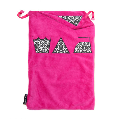 Wash, Dry and Repeat Laundry Bag - Hot Pink