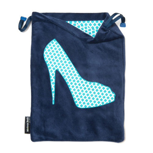 She-She Shoe Bag - Navy Blue