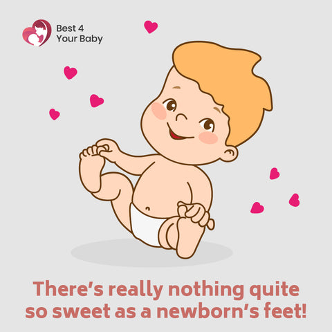 There's really nothing quite so sweet as a newborn's feet