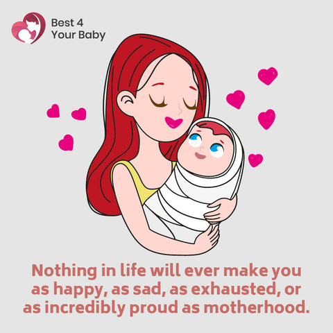 Nothing in life will ever make you as happy, as sad, as exhausted, or as incredibly proud as motherhood