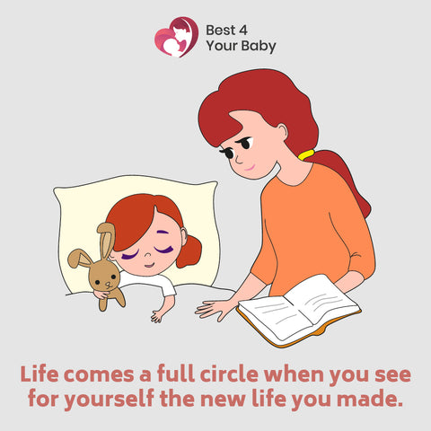 Life comes a full circle when you see for yourself the new life you made
