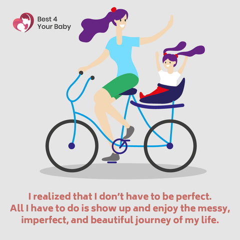 I realized that I don't have to be perfect. All I have to do is show up and enjoy the messy, imperfect, and beautiful journey of my life 10 The Best Motivational Quotes