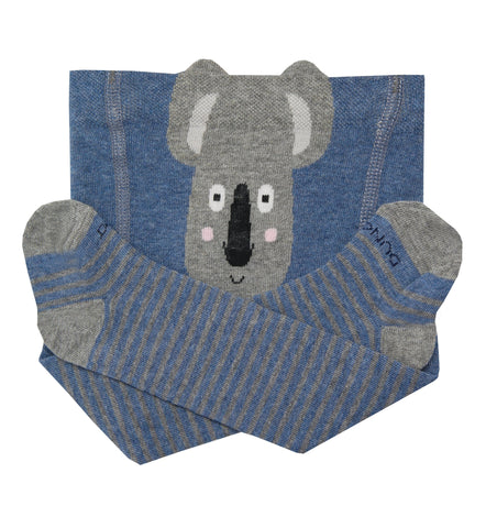 Baby Boy Cotton Tights with Coala in Jeans