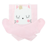 Baby Girl Cotton Tights with Kitty in Light Pink