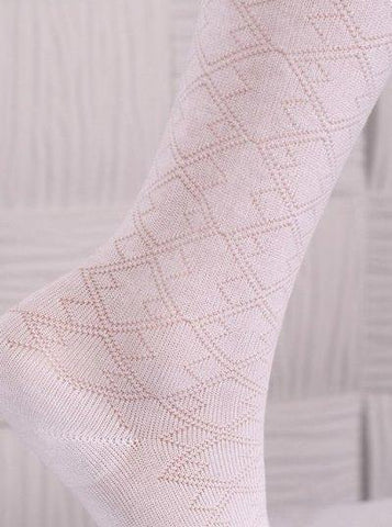 Baby Girl Exclusive Occasion Cotton Tights in White