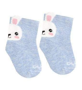 Baby Girl Cotton 3D Socks with Bunny in Blue