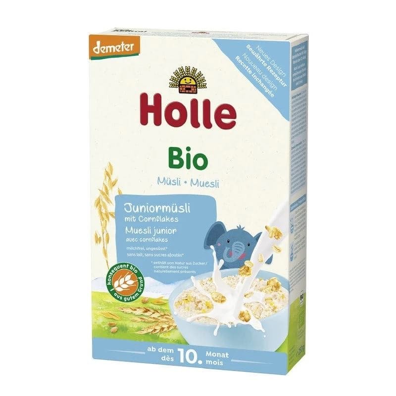 Holle 100% Organic Junior Multigrain Muesli Porridge with Cornflakes 250g