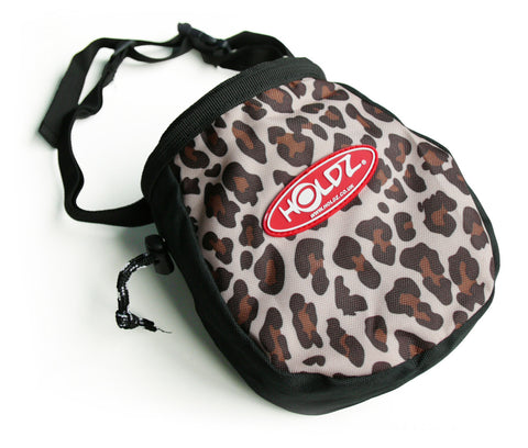 chalk bag - leopard skin