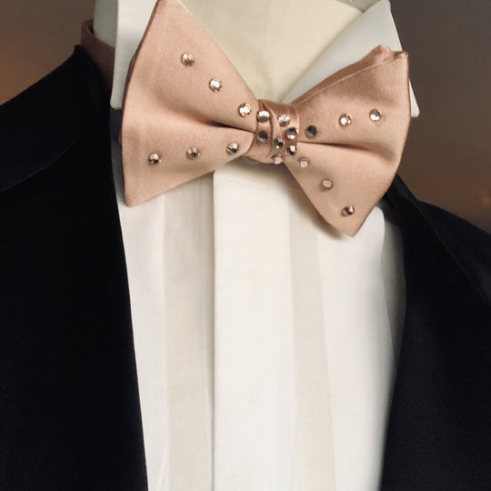 Rose Gold Bowtie with Swarovski Crystals