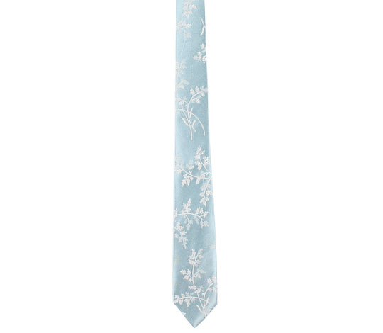 Baby Blue Floral Tie by German Valdivia
