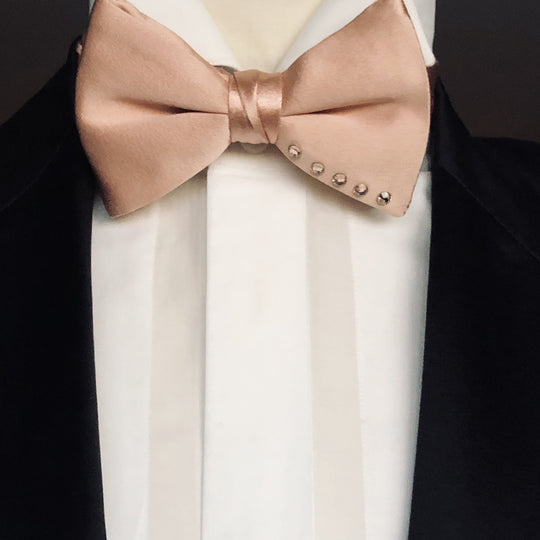 Rose Gold Bow Tie with Swarovski Crystals