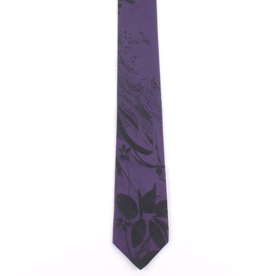 black purple floral classic tie by german valdivia