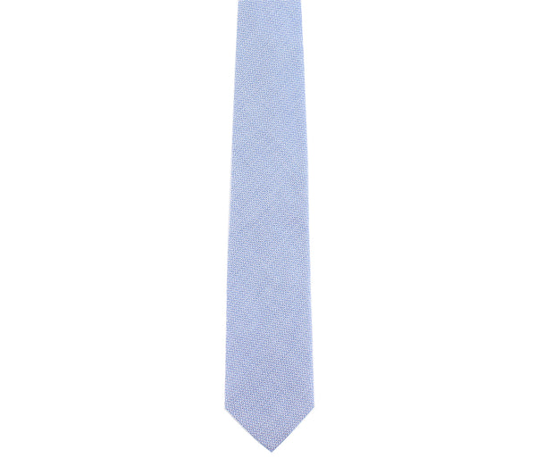 blue woven pattern tie by german valdivia