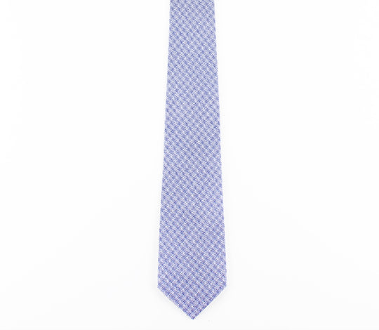 blue white plaid classic cotton tie by german valdivia