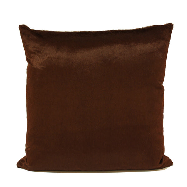 Brown Silk Velvet Decorative Pillow