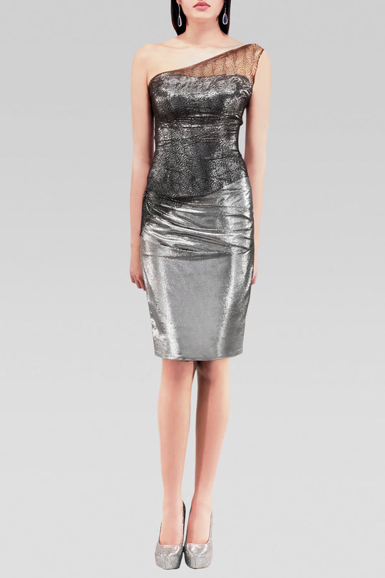 Metallic Dress with Lace