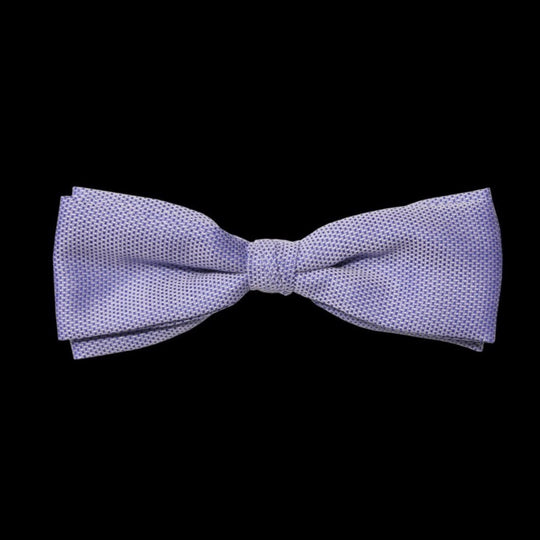 Blue Pinpoint Oxford  Cotton Self Tie Bow Tie