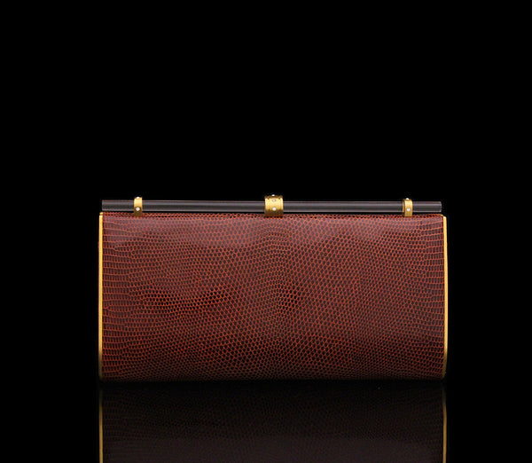 Sophia Clutch in Terra Cotta