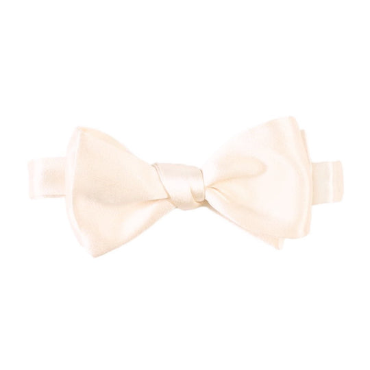 Ivory Silk Self tie Bow Tie